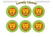 English Worksheets: Lion Cards (Add you own text) Use them with my lion gameboard.