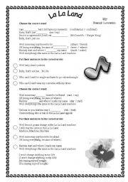 English Worksheet: Song    (