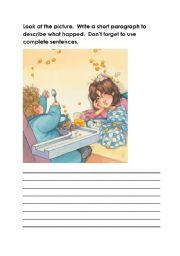 Look at the picture - paragraph writing - ESL worksheet by picardc