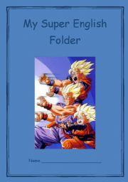English Worksheets: Boys� English Folder Cover