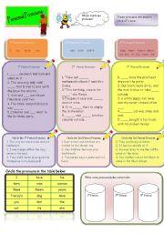 English Worksheet: Pronouns: 1st Person, 2nd Person, 3rd Person pronouns