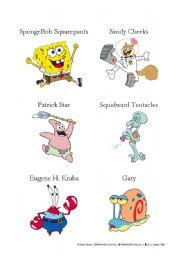 English Worksheets: SpongeBob characters