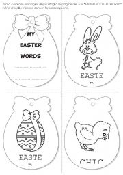 English Worksheet: easter words