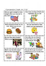 Conversation Cards  Food  #s 17-24
