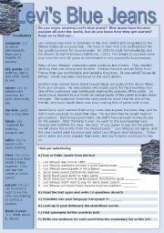 English Worksheets: Levi�s Blue Jeans