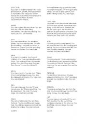English Worksheet: bank robbery role play
