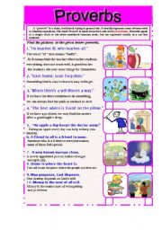 English Worksheet: Proverbs   ( the second part)