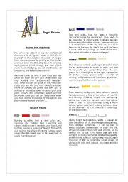 English Worksheet: Paints