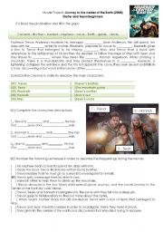English Worksheet: Journey to the center of the earth - Movie activity