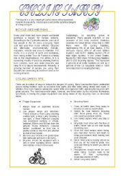 English Worksheets: Cycling Safety