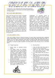 English Worksheets: Cycling Safety