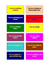 English Worksheet: Cards for Miming