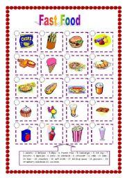 English Worksheet: Fast Food (06.04.09)
