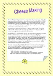 English Worksheets: Cheesemaking