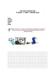 English Worksheets: writing exam