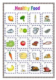 English Worksheet: Healthy food (06.04.09)