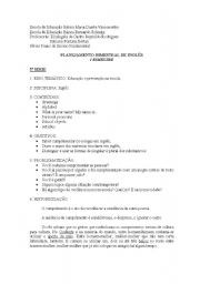 English Worksheets: Planejamento bimestral sobre Educa��o e preven��o na escola