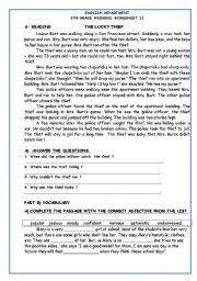 English Worksheets: reading&writing