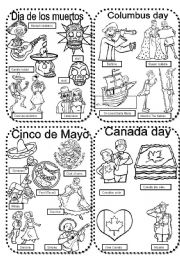 Worksheets Dia De Los Muertos Worksheets celebrations 7 dia de los muertoscolumbus daycinco mayocanada day