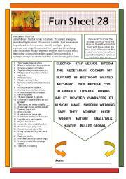 English Worksheets: Fun Sheet 28