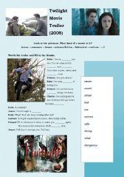 English Worksheet: Twilight Movie Trailer (2008)