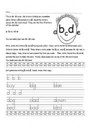 English Worksheets: Mr. BD Man