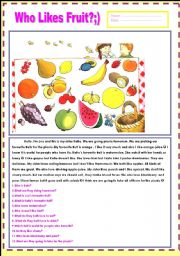 WHO LIKES FRUIT??? [FRUIT AND HATE/LOVE/DISLIKE]SIMPLE PRESENT TENSE