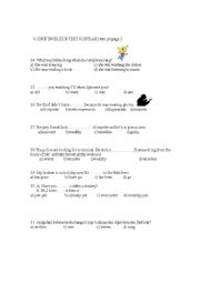 English Worksheet: 8th year SBS test part 2 (60 questions) whole year !!!