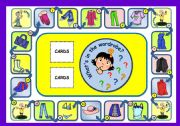 English Worksheets: WHAT�S IN THE WARDROBE? - BOARD GAME (PART 1)