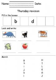 English Worksheets: A-D exercises