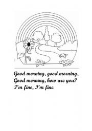 English worksheet: Good morning song