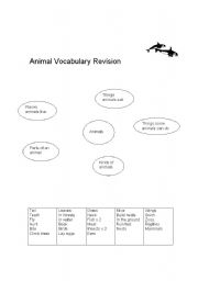 English Worksheets: Animal vocab revision