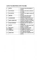 English Worksheet: JOBS AND WORKPLACES