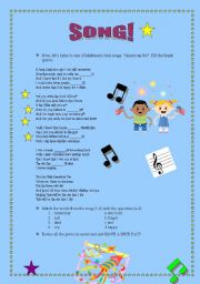 English Worksheets: READING + WRITING + LISTENING with Madonna (2/2)