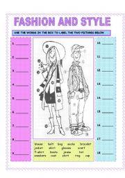 English Worksheet: FASHION AND STYLE