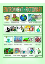 English Worksheet: Environment - Pictionary