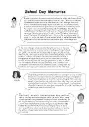 English Worksheets: Schoolday memories