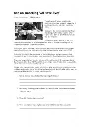 English Worksheets: Ban on Smacking