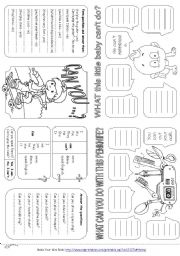 English Worksheet: Can for ability (Mini grammar book)