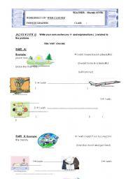 English worksheet: wish woksheet part I