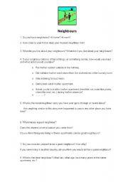 English Worksheet: Neighbours 2009