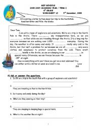 English Worksheets: vocabulary and Reading Comprehension