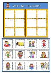 English Worksheet: WHAT ARE THEY DOING? BOARD GAME (PART 2)