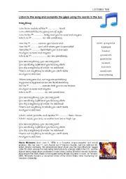 English Worksheets: SONG