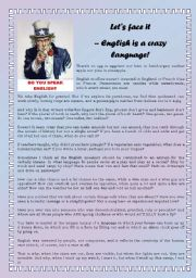 English Worksheets: English is a crazy language!