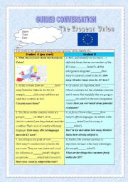 English Worksheet: Guided Conversation - The European Union