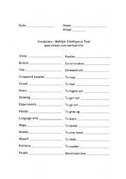 math worksheet : english worksheets multiple intelligence worksheets page 3 : Multiple Intelligences Worksheets