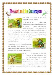 the ant and the grasshopper william As this part of the plot unfolds, the reader is able to match the characters of  george and tom to those of the ant and the grasshopper respectively the  narrator.