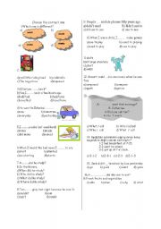 English Worksheets: revision spot on 7th year unit 9 /12