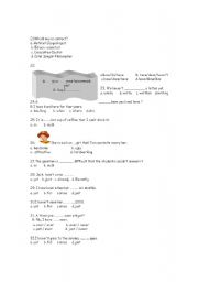English Worksheets: revision 8th year unit 9/12 part 2
